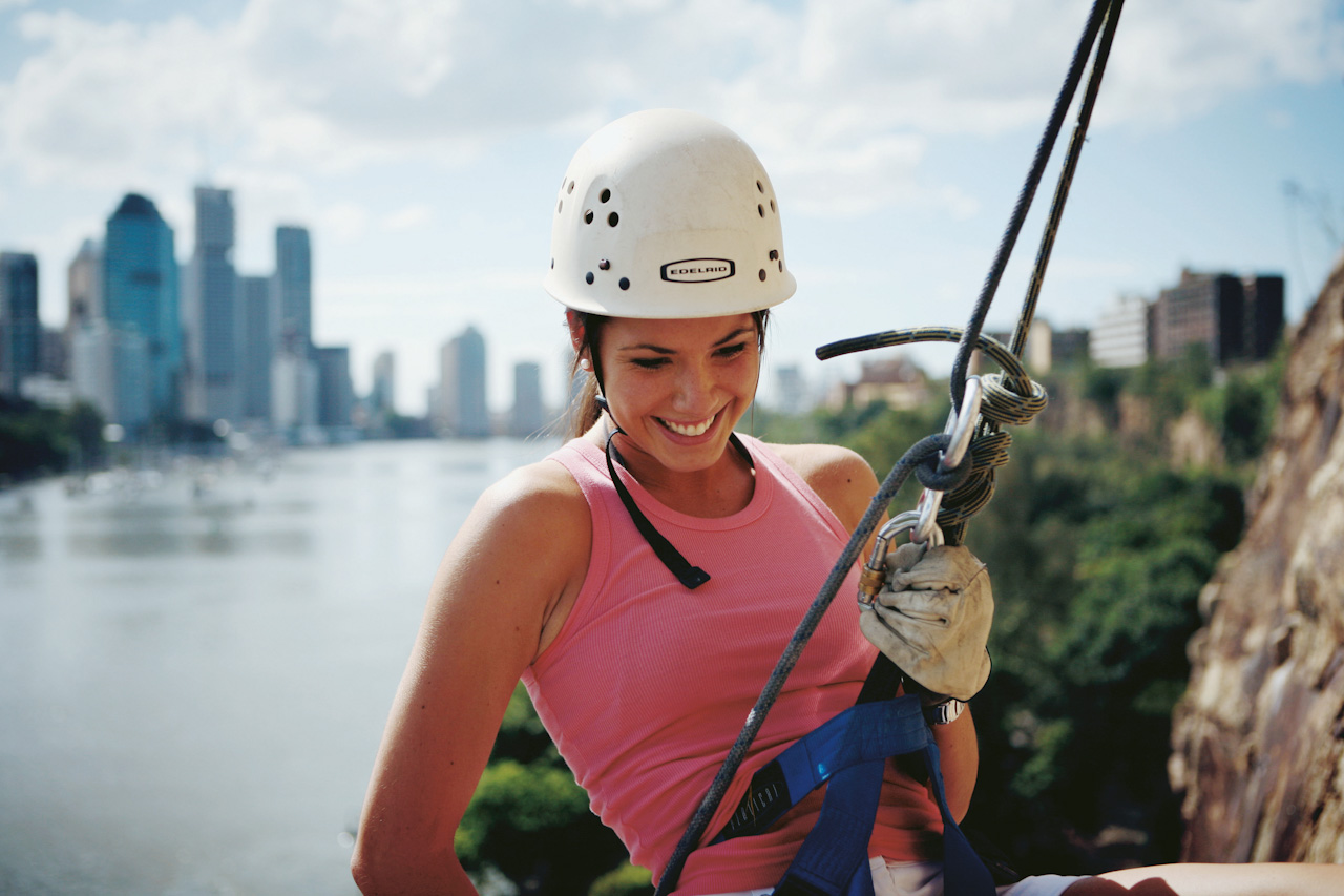Abseiling at Kangaroo Point cliffs