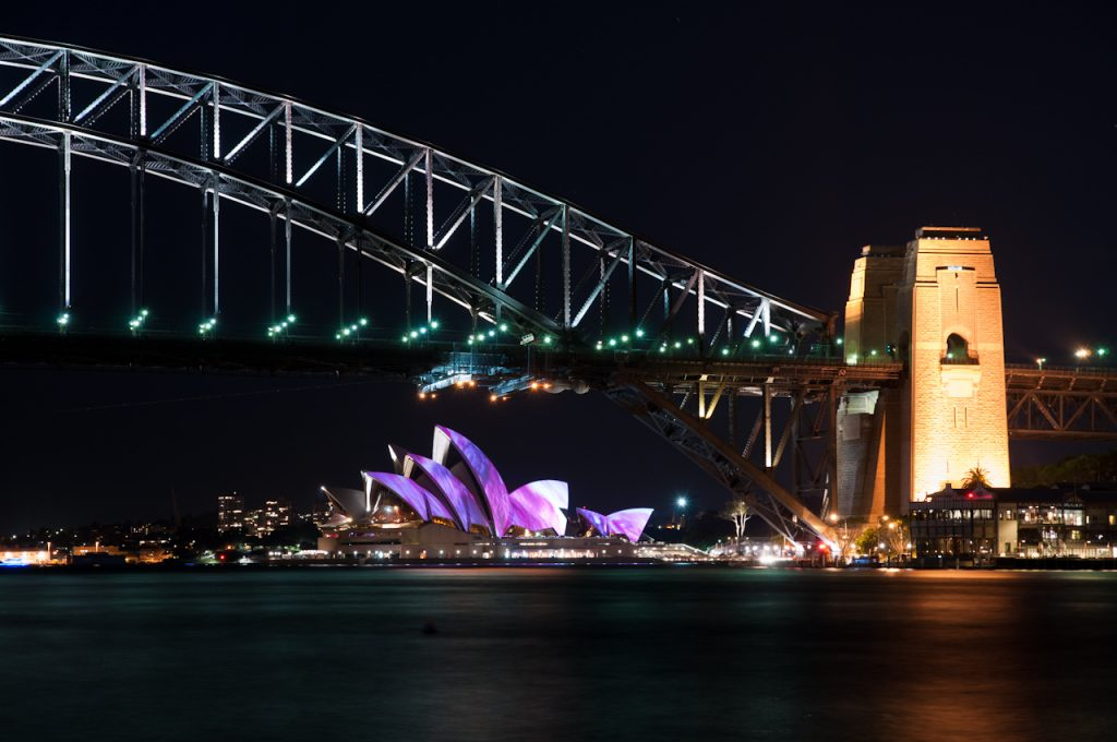 vivid sydney bridge opera house
