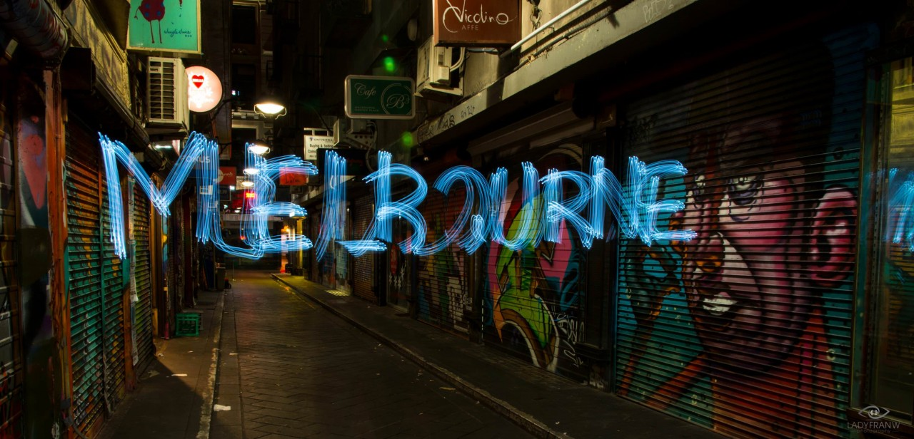 melbourne light painting